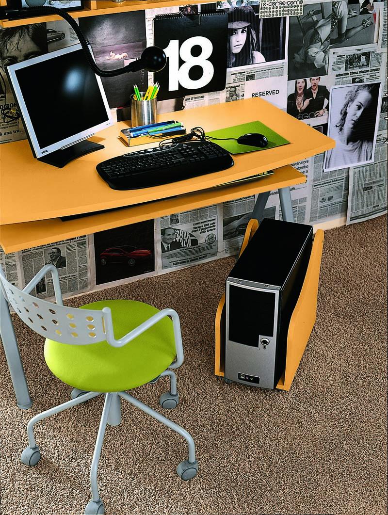 Γραφείο με εσωτερικό συρτάρι για υπολογιστή