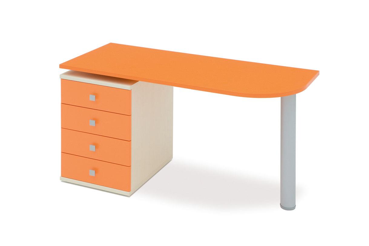 Παιδικό γραφείο  πορτοκαλι χρώματος με συρταριέρα