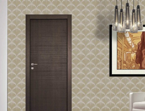 Πόρτα λαμινάτε σε χρώμα minerale πούρο με τετράγωνη κάσα