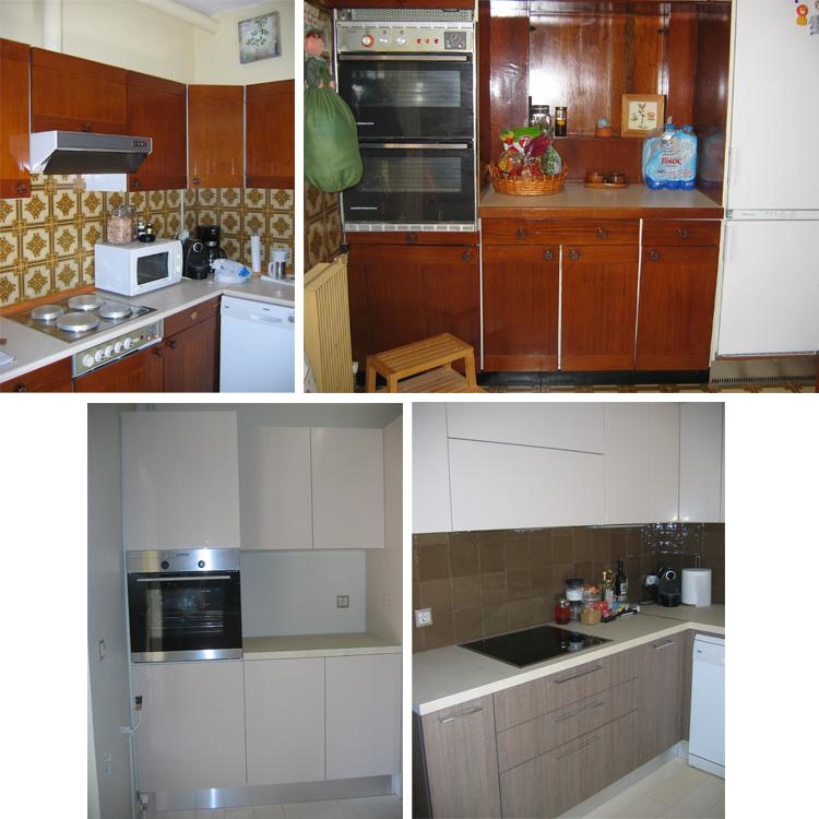 Ανακαίνιση κουζίνας πριν-μετά στο Λαιμό Βουλιαγμένης
