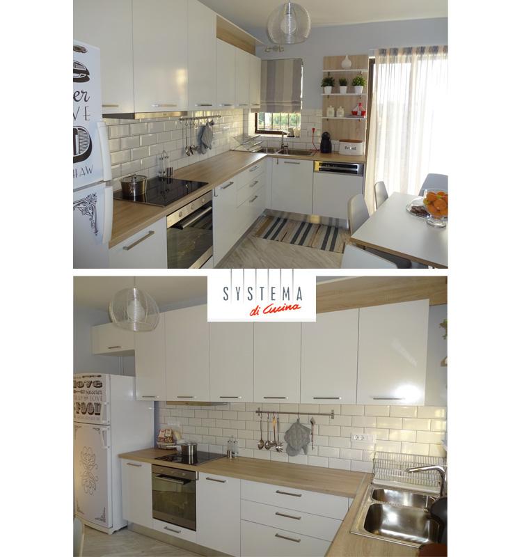 Οικονομική μικρή κουζίνα-ανακαίνιση Systema di Cucina